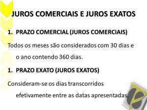 JUROS EXATOS E COMERCIAIS