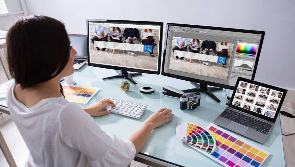 Controle de cores e gráficos de fundo