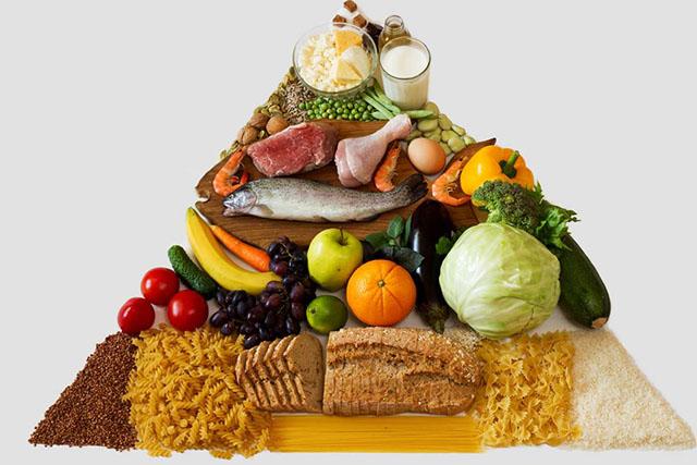 Pirâmide alimentar: sais minerais e carboidratos