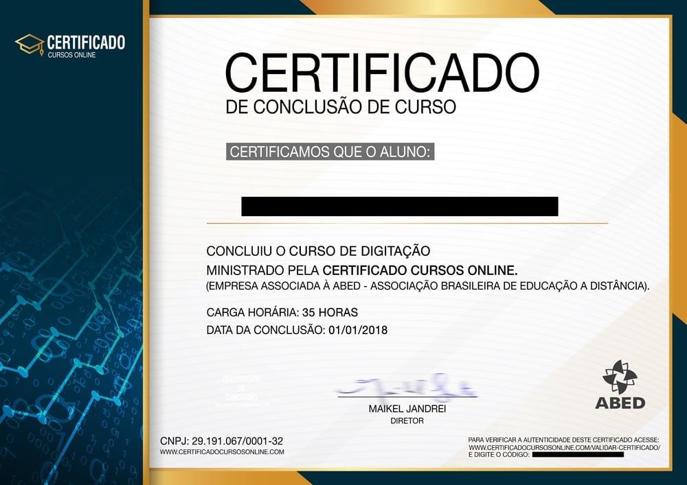 Certificado De Conclusão De Curso 2019importante