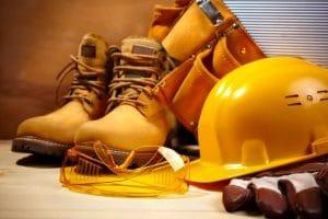 Equipamentos de proteção de pedreiro