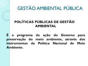 gestaão ambiental publica