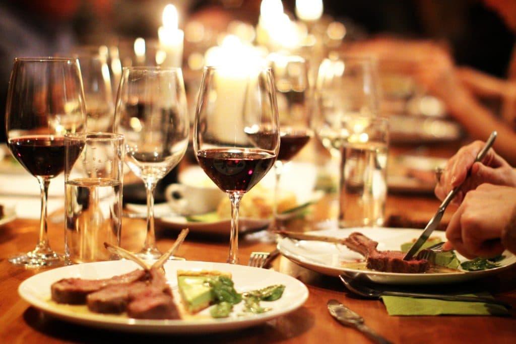 Pratos e vinhos